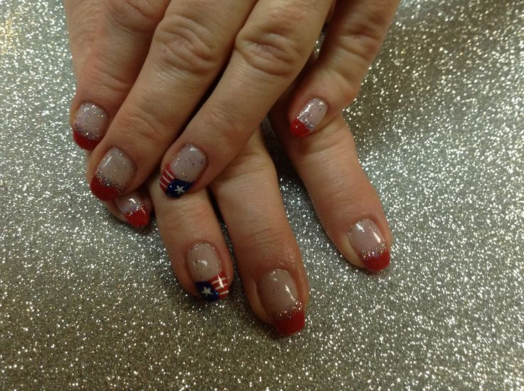 4th of July nail art | Shellac nails | Pinterest