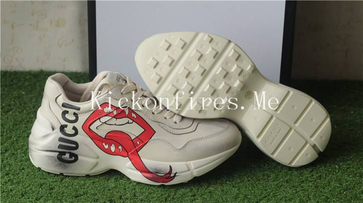 rhyton sneaker with mouth print price