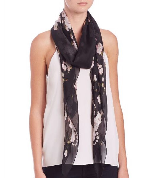 Givenchy Baby's Breath Printed Silk Shawl            $75.00