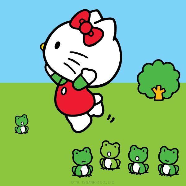 hello kitty frog leap hello kitty amp friends pinterest