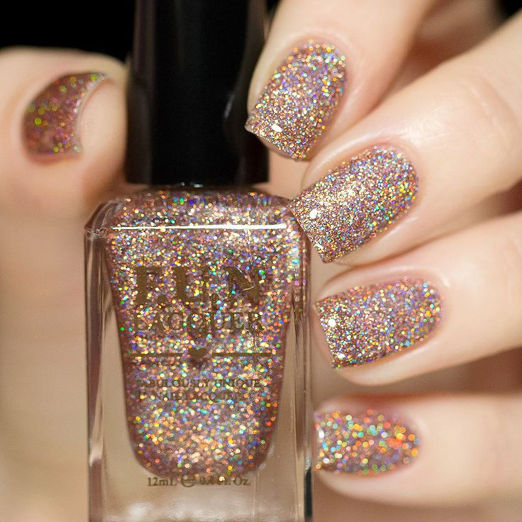 Bronze holographic glitter nail polish – Fun Lacquer on LiveLovePolish.com: