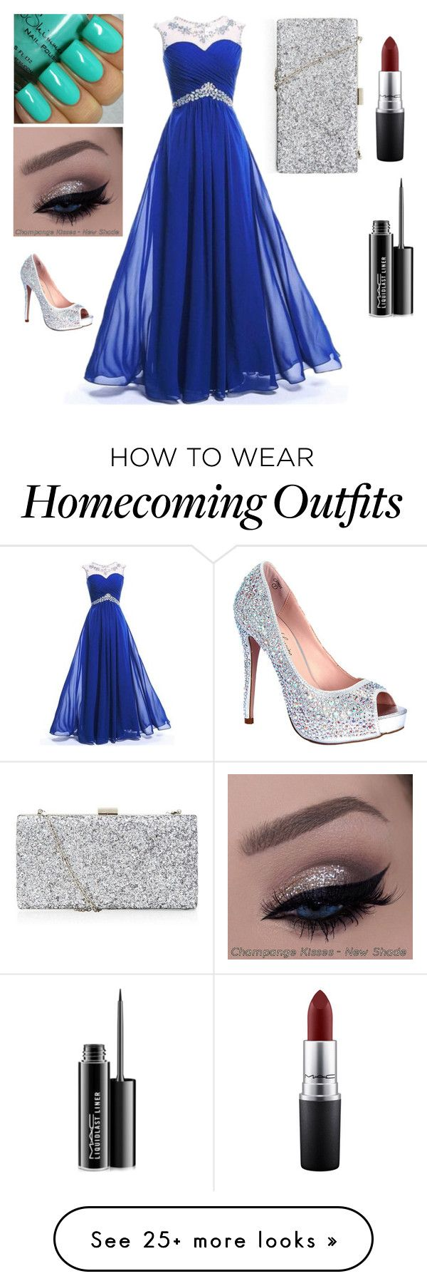 """Homecoming"" by kayleighmw on Polyvore featuring MAC Cosmetics and Lauren Lorraine"