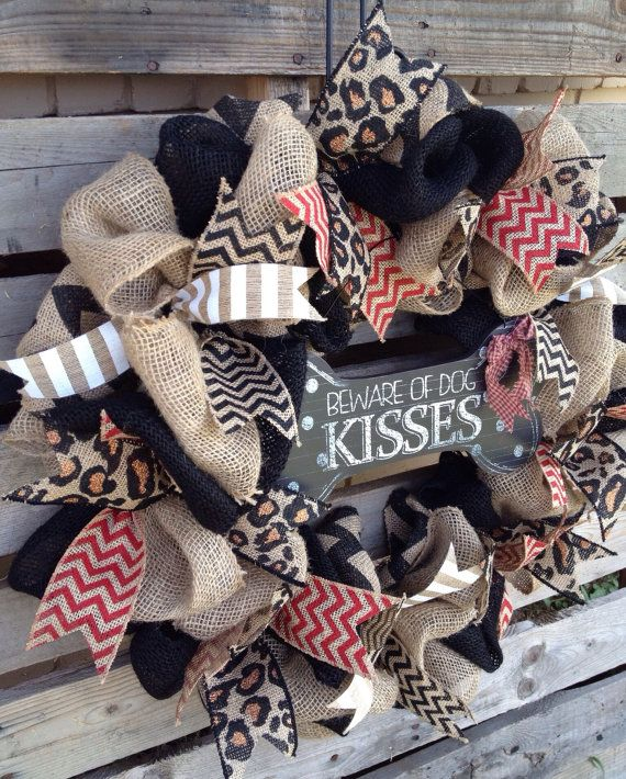 Hey, I found this really awesome Etsy listing at https://www.etsy.com/listing/201830167/burlap-wreath-door-hanger-animal-print