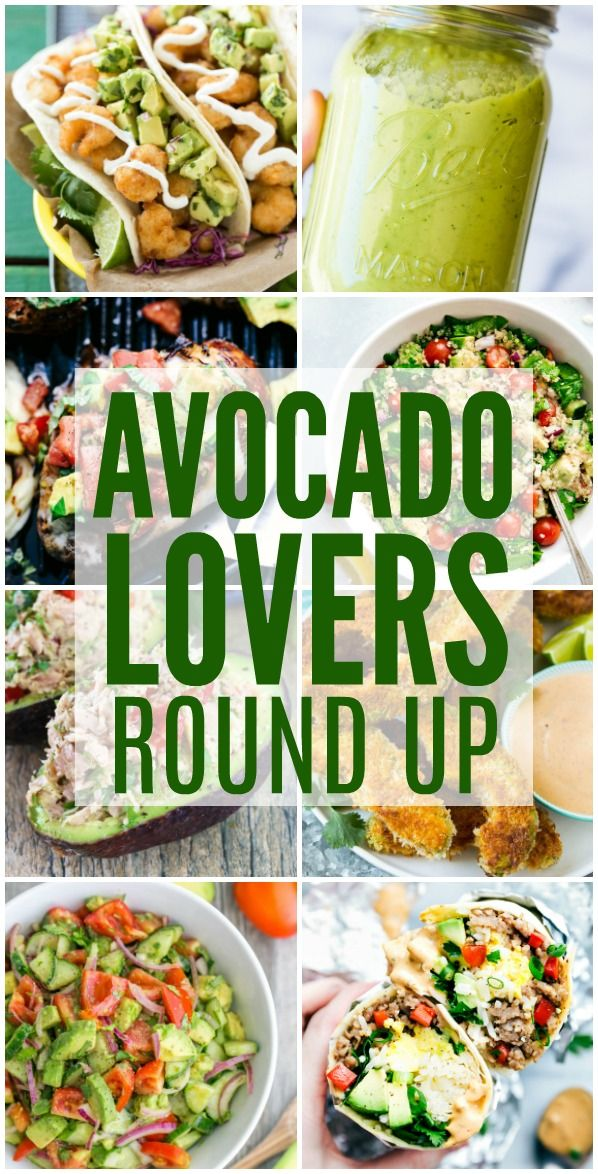 Amazing recipes for Avocado Lovers all in one place! We includedeliciousrecipes for every meal so that you can feed your avocado obsession!  Cucumber Tomato Avocado Salad Grilled California Avocado Chicken  Creamy Avocado Salsa Quinoa Avocado Power Salad Avocado Fries Avocado Pineapple Salsa Tuna Stuffed Avocado Southwest Pepper Jack Burgers Fried Shrimp Tacos with …
