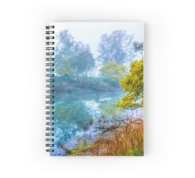 Foggy Start to the Day at Lake Eildon Spiral Notebook