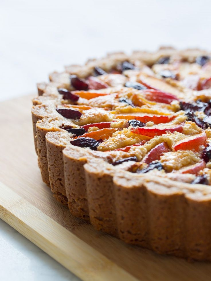 Red Apricot and Sweet Cherry Tart