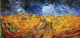 Van Gogh, Campo di grano con corvi, olio su tela, Van Gogh Museum, Amsterdam