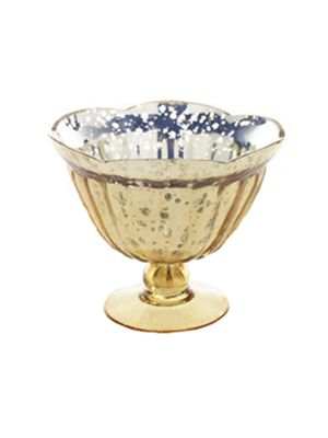Gold Carraway Compote - for low centerpieces