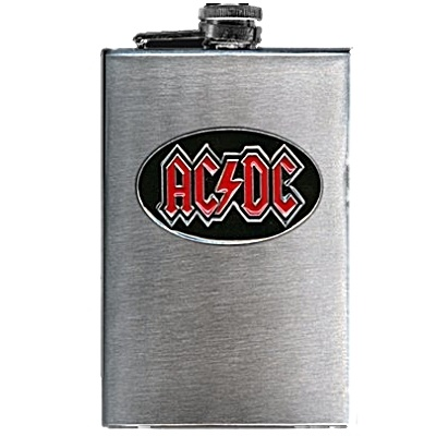 AC/DC Logo 8oz Stainless Steel Flask