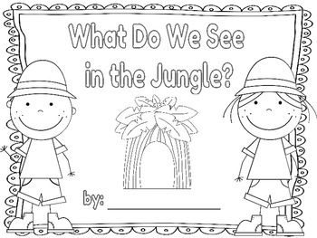 Jungle Themed Color Words Book free