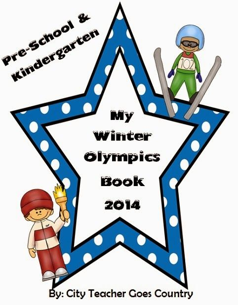 2104 Sochi Winter Olympics Booklet for PreSchool and Kindergarten.