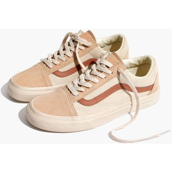 Madewell x Vans® Unisex Old Skool Lace-Up Sneakers in Camel Colorblock ($60