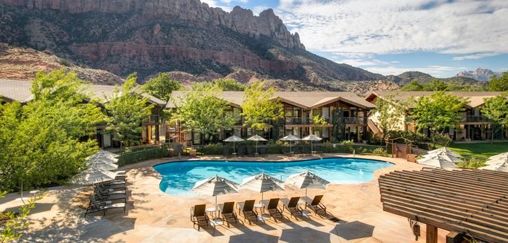Desert Pearl Inn - One of the best places to stay while visiting Zions. It is quite modern with cement counter-top vanities and wood floors. Love the outdoor hot tub under the stars after a day's hike into the subway.