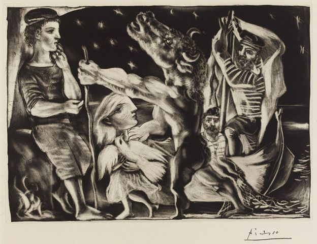 Striking Picasso etching. Hope to get to the British Museum to see the rest of the collection.