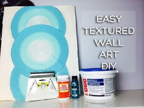 Drywall Mud Craftiness! Textured Canvas Art Using Joint Compound - YouTube