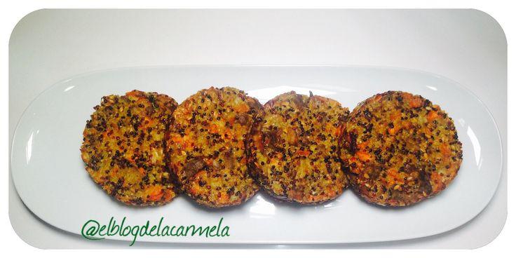 hamburguesas de quinoa y berenjena