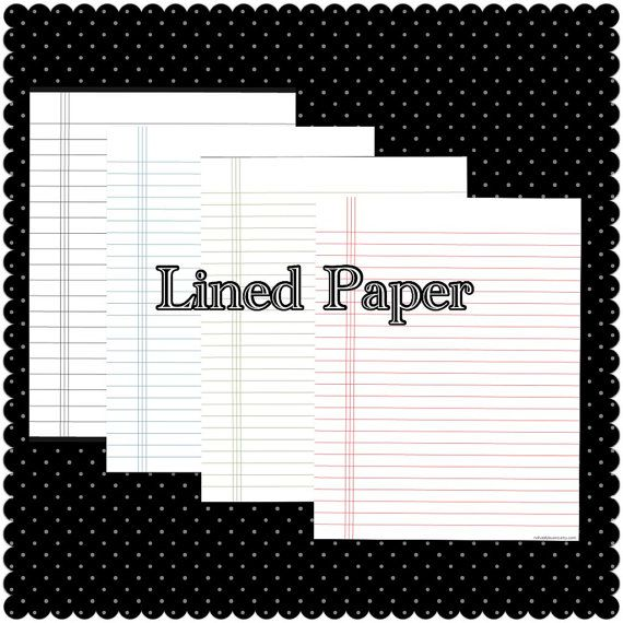 Lined Paper Binder Paper Instant Download   naturallybueno.etsy.com