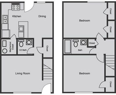Simple base townhouse floor plan appartement pinterest for Simple townhouse design