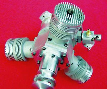 3 cylinder Munday 30cc radial glow engine