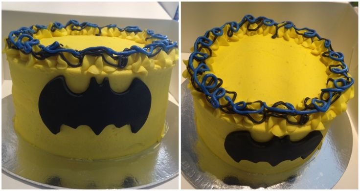 Cake smash batman theme vanilla buttercream sponge