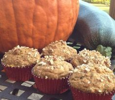 Low-Fat Pumpkin Zucchini Muffins Recipe - My kids love them for a snack and they don't even know that they have veggies in them! I make them mini sized.