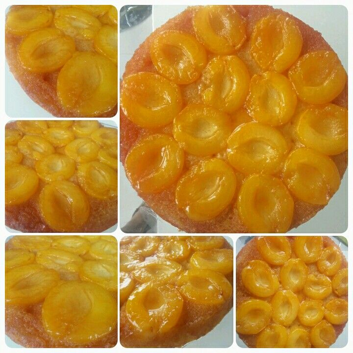 Apricot up-side down cake