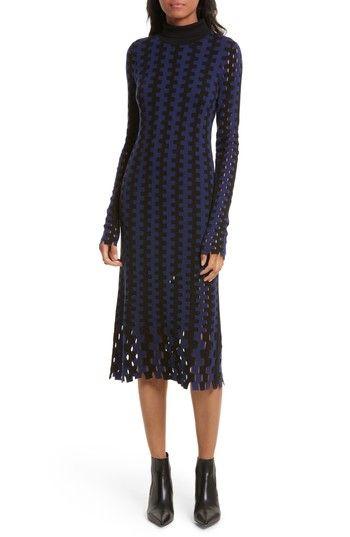9a5afd94d985 Turtleneck Merino Wool Midi Dress