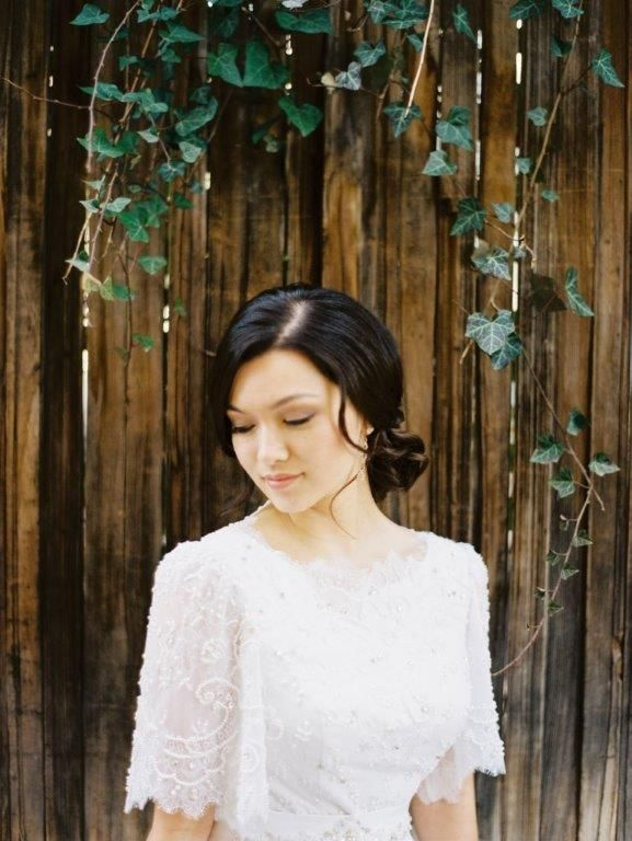 Simple beauty, wedding day hairstyle | Carrie Purser Makeup and Hair Artistry