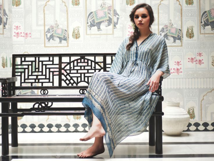 SERENDIVA is our collection of unstitched cloth created in batik, ikat, and kalamkari using natural indigo. Sarees, sarongs, scarves, odhnis & runners in hand woven khadi & chanderi: block-printed & resist dyed with indigo, myrobylam & other natural dyes. #SustainableLuxury