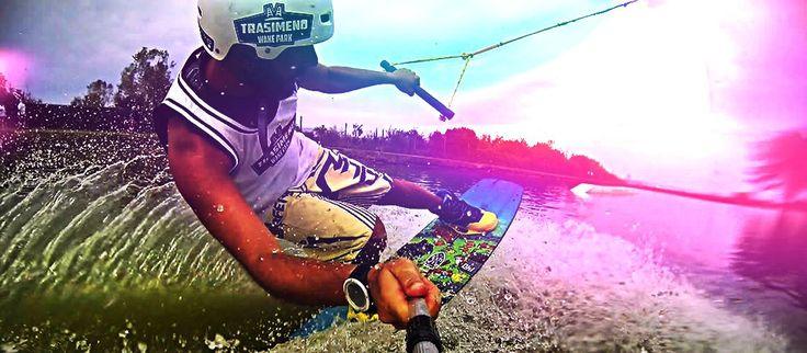 Trasimeno Wake Park - Cable wakeboard system & Kite beach Umbria Lago Trasimeno Italy Italia