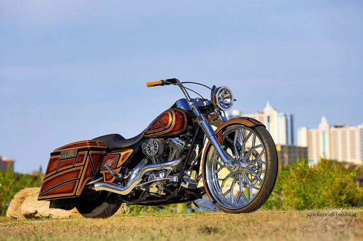 A custom Ray Price Harley-Davidson Road King shot at Daytona 2016