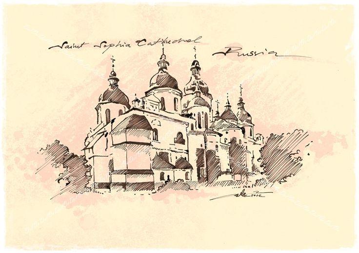 Cathedral of Saint Sophia  Novgorod, Russia