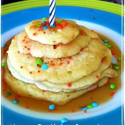 Happy Birthday Pancakes - Make your birthday boy or girl feel special first thing in the morning!: Happy Birthday, Recipe, Boy Or Girl, Birthday Boys, Birthday Girl, Birthdays, Birthday Pancakes, Kid, Birthday Ideas