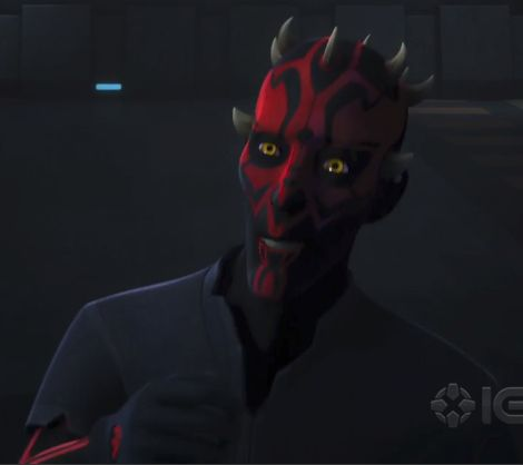 "podracing-on-lothal: "" reyyofsun: "" HE LOOKS SO HAPPY "" Maul: Just follow the sound of my voice! Me: Oooh, don't mind if I do. I'd follow that sexy voice anywhere! :P "" Someone should make a Darth Maul ASMR recording. The tingles would be strong with..."
