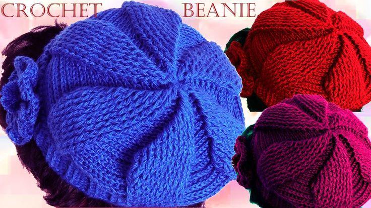 Como tejer gorro boina a Crochet o Ganchillo en todas las tallas - YouTube
