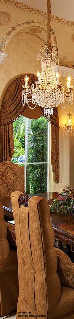 Window treatment for arched windows/ Mediterranean/Tuscan/Old World Decor