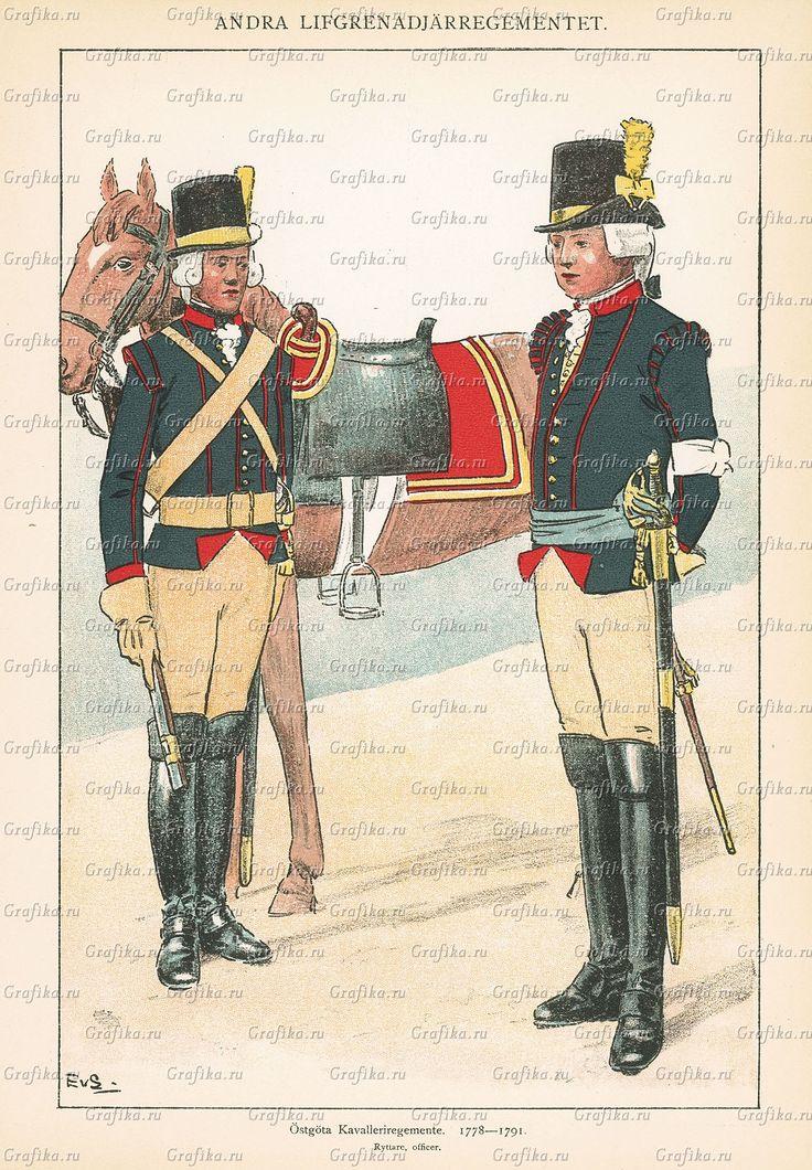 Officer at Östgöta regiment of horse 1778-1791 by Einar von Strokirch