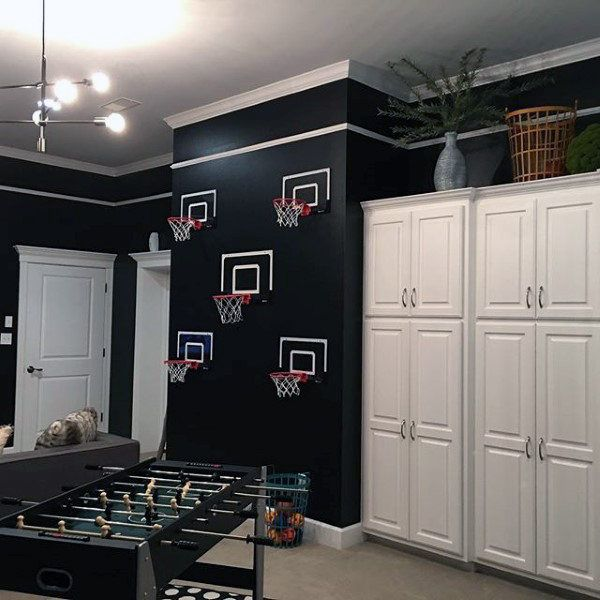 60 Game Room Ideas For Men Cool Home Entertainment Designs Black Painted Walls Game Room Black Walls