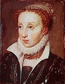 Claude of Valois (1547 - 1575). Daughter of Henri II and Catherine de Medici. She married Charles III, Duke of Lorraine, and had nine children.