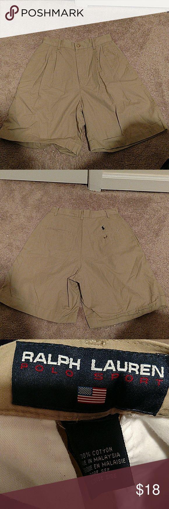 Ralph Lauren Polo khaki shorts Classic pair of Ralph Lauren Polo shorts. Great kakhi color that goes well with everything! 10 percent cotton Ralph Lauren Shorts
