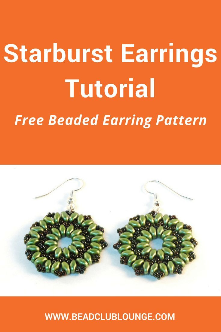 Beaded Earring Patterns For Beginners Simple Design