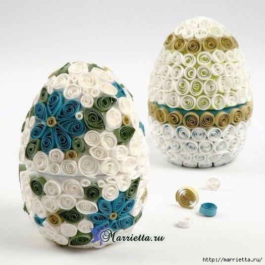 Декоративные пасхальные яйца в технике квиллинг (1) (535x535, 160Kb)