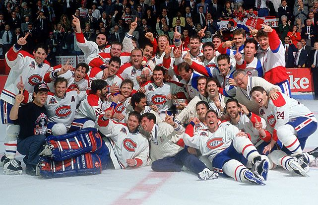 Just one of the many Stanley Cup victories for the Montreal Canadiens hockey team