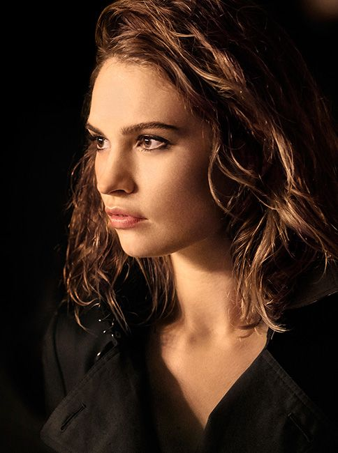 British actress Lily James lights up the set of the My Burberry Black campaign, shot by Mario Testino.
