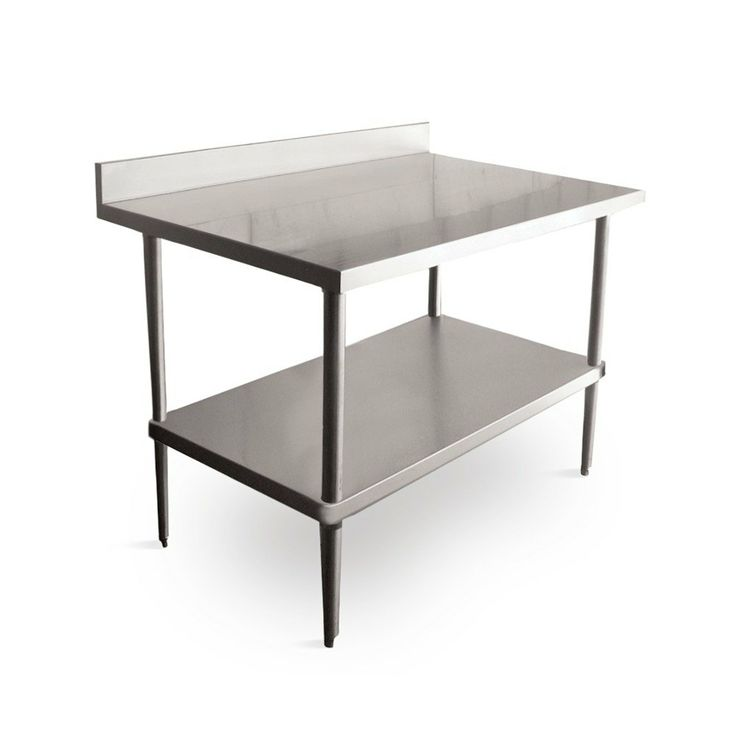 regency 16 gauge stainless steel commercial work table 24 x 72 with backsplash