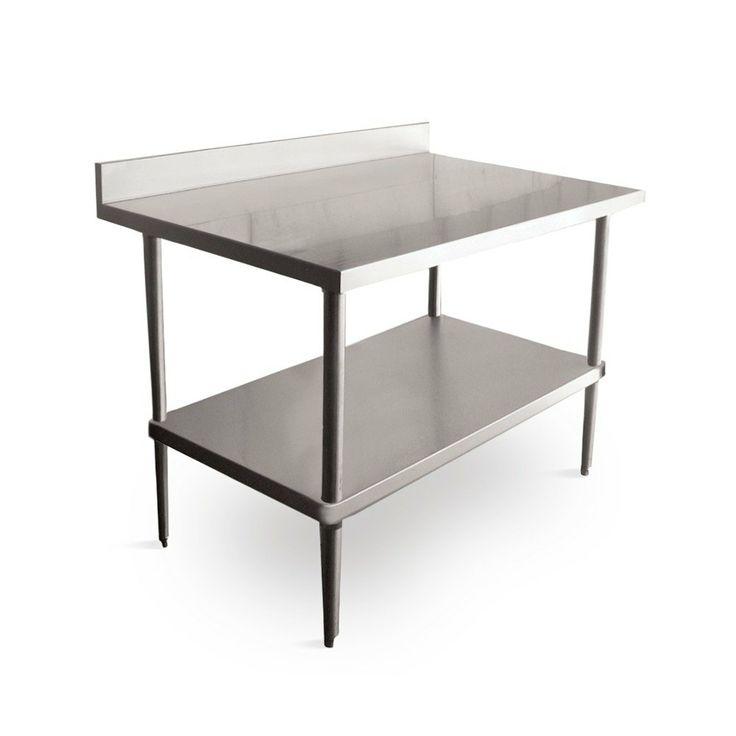 regency 16 gauge stainless steel commercial work table 24 x 72 with backsplash - Stainless Steel Work Table With Backsplash