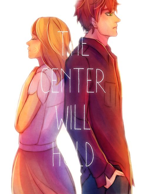 walkingnorth:   We are the center.  Sydney and Adrian from the Bloodlines series by Richelle Mead.
