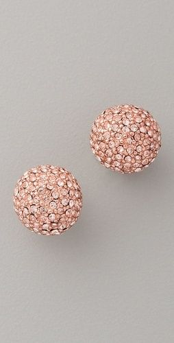 Michael Kors Rose Gold Earrings. Flat studded and overlapped. Perfect accessory to compliment white or light tones in your outfit.