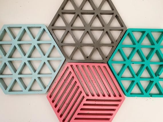 Pink and Turquoise Coasters and Trivets