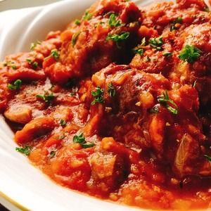 チキンカチャトーラ(鶏肉のトマト煮)+by+Misuzuさん+|+レシピブログ+-+料理ブログのレシピ満載! 鶏もも肉と玉ねぎ、にんにくをしっかり炒めて赤ワインとトマトで煮込みます。  パスタやライスにも合いますよ。